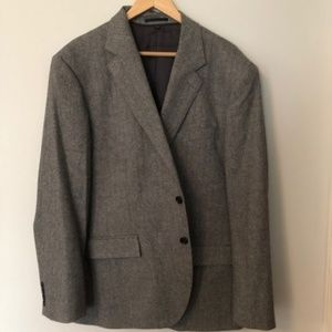 J Crew 46R Two button Herringbone Pattern Suit